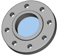 View Model S Flange in 3D